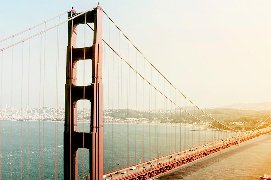 Picture of San Fransisco, the Golden Gate bridge