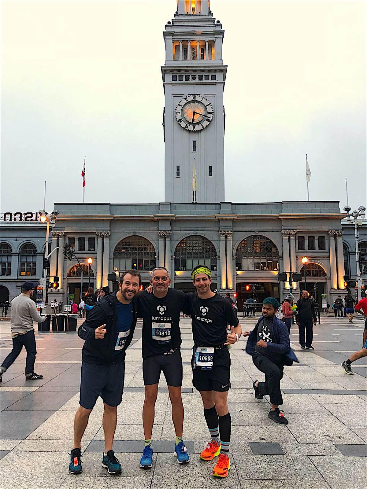 LumApps marathon team