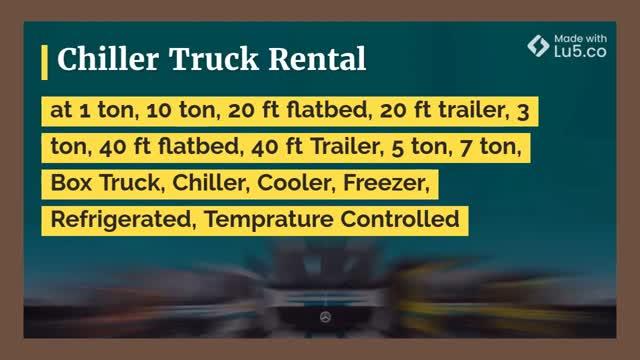Freezer trailer rental
