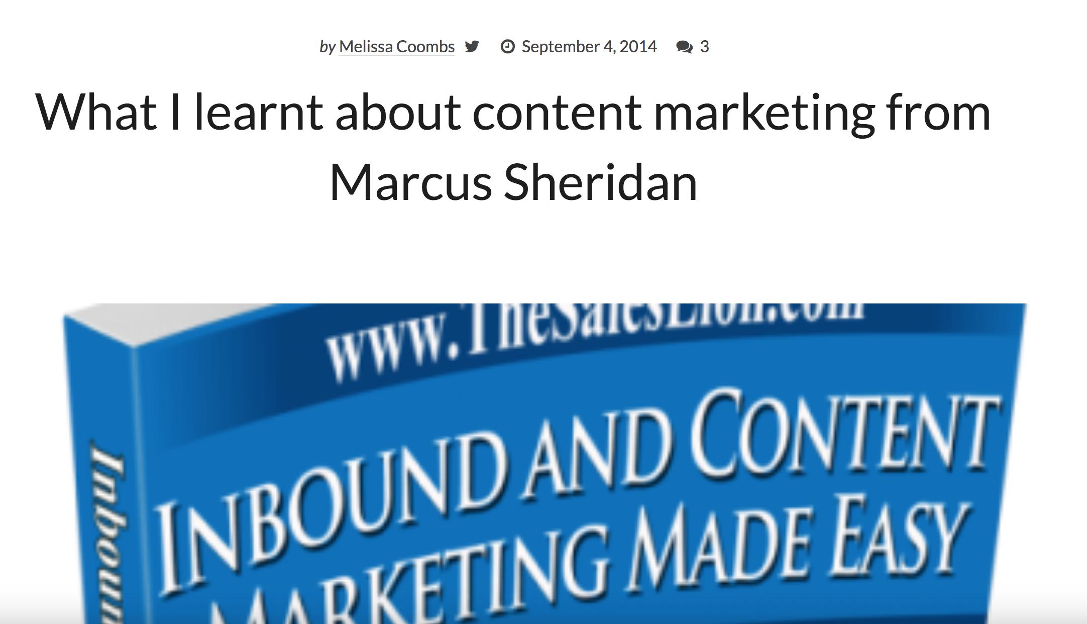 Inbound content marketing book
