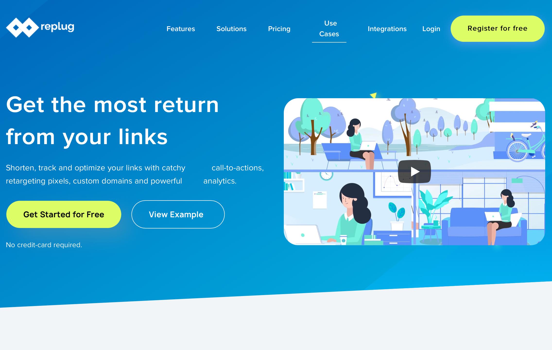 Replug- A URL Shortening tool