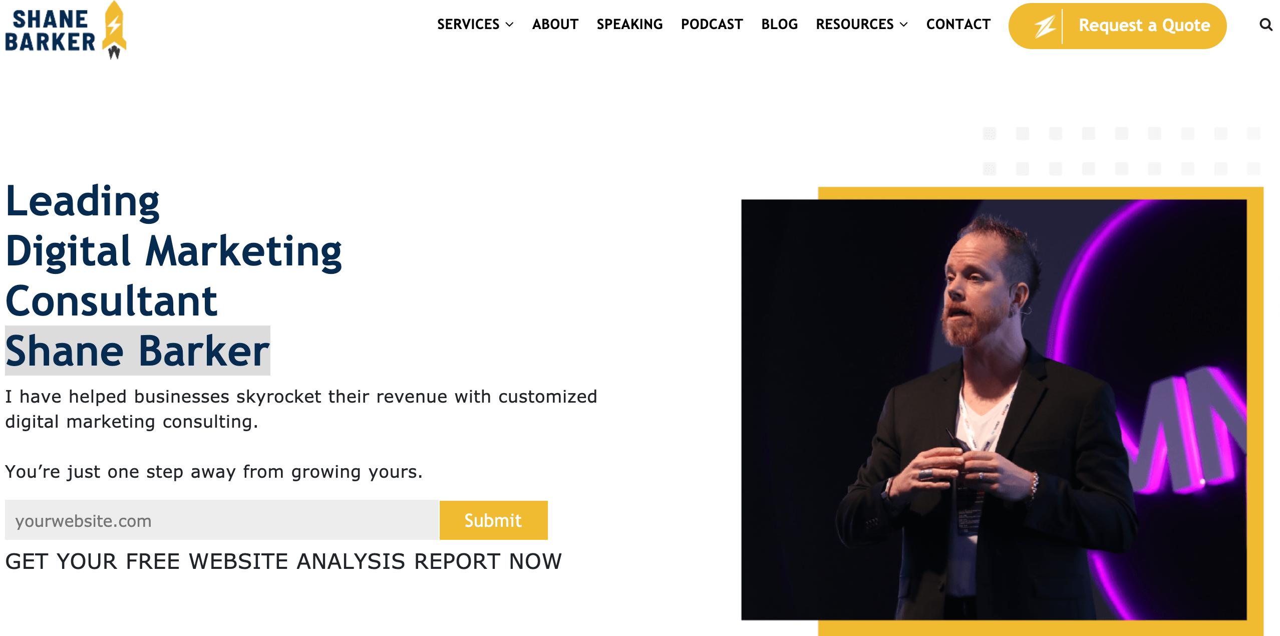 Shane Barker- a famous Digital Marketing Consultant