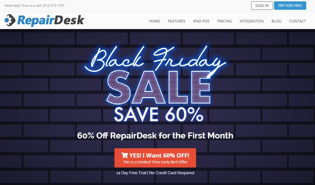 Repair desk Blackfriday deal 2020