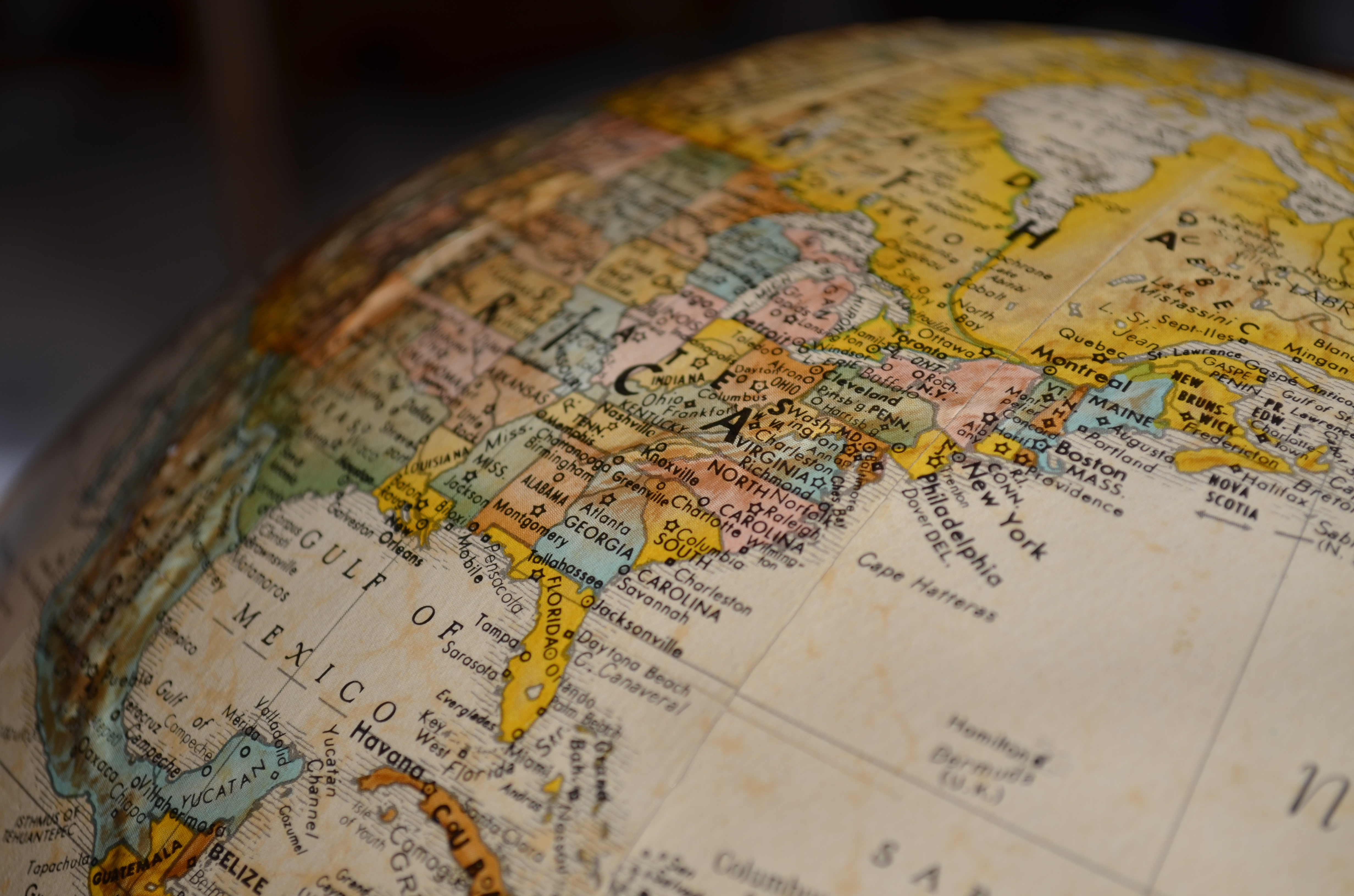 Map of the Eastern US; 3 Common Personal Income Tax Problems; Photo by Pixabay
