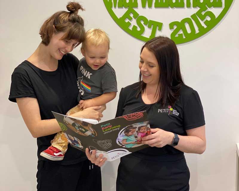 Child care Centre Director responds to a new parent's enquiry.