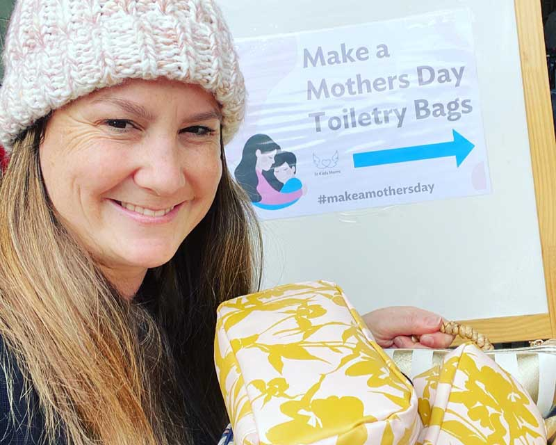 Petit ELJ Forest Hill take gifted toiletry bags to St Kilda Mums charity a thoughtful way to teach children to be kind.