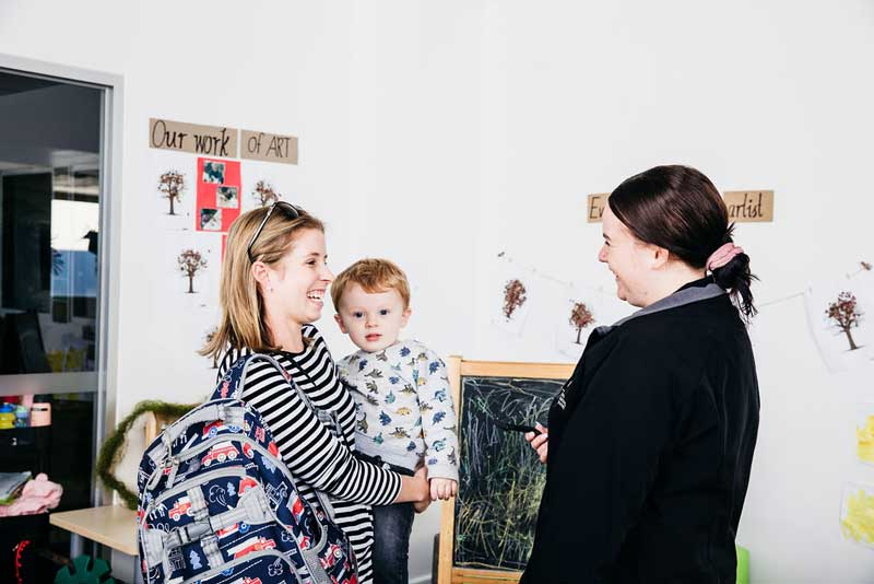 Our Educators enjoy collaborating with families—Helping parents a reason for choosing a career in ECEC.