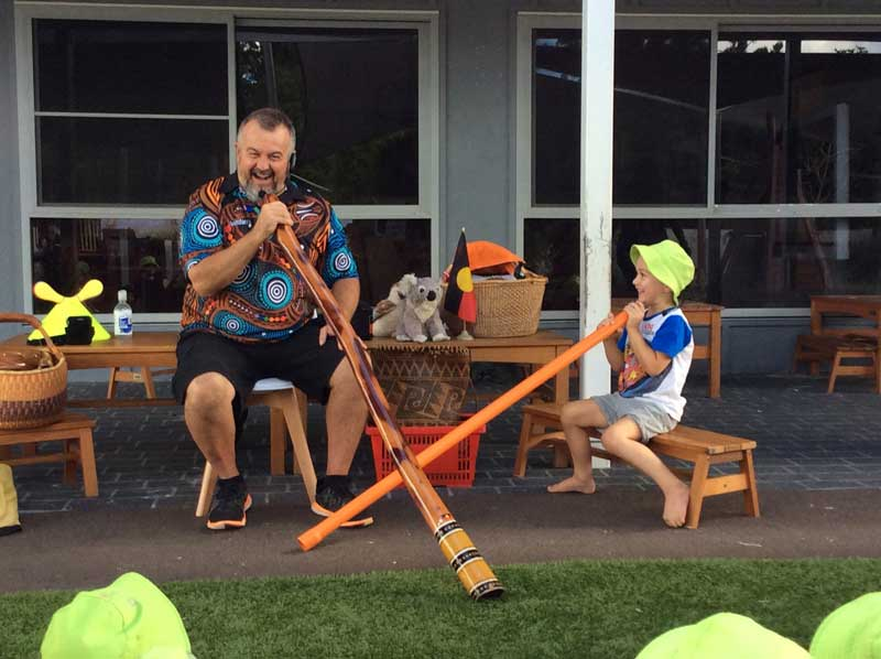Children learn about Aboriginal and Torres Strait Islander culture an important aspect of NAIDOC Week