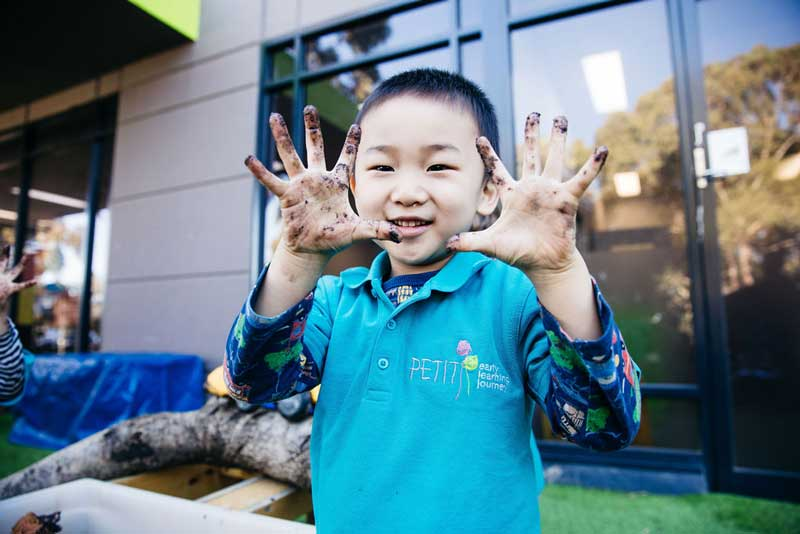 Children will get muddy and dirty on kids camping adventures.