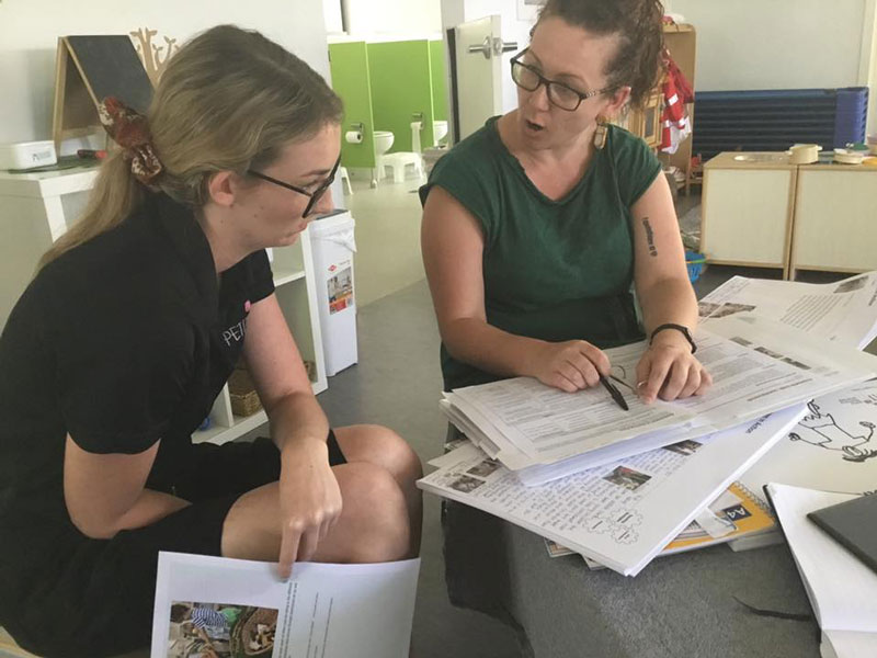 Working with like-minded people such as Kelly Goodsir who are passionate about working in ECEC.