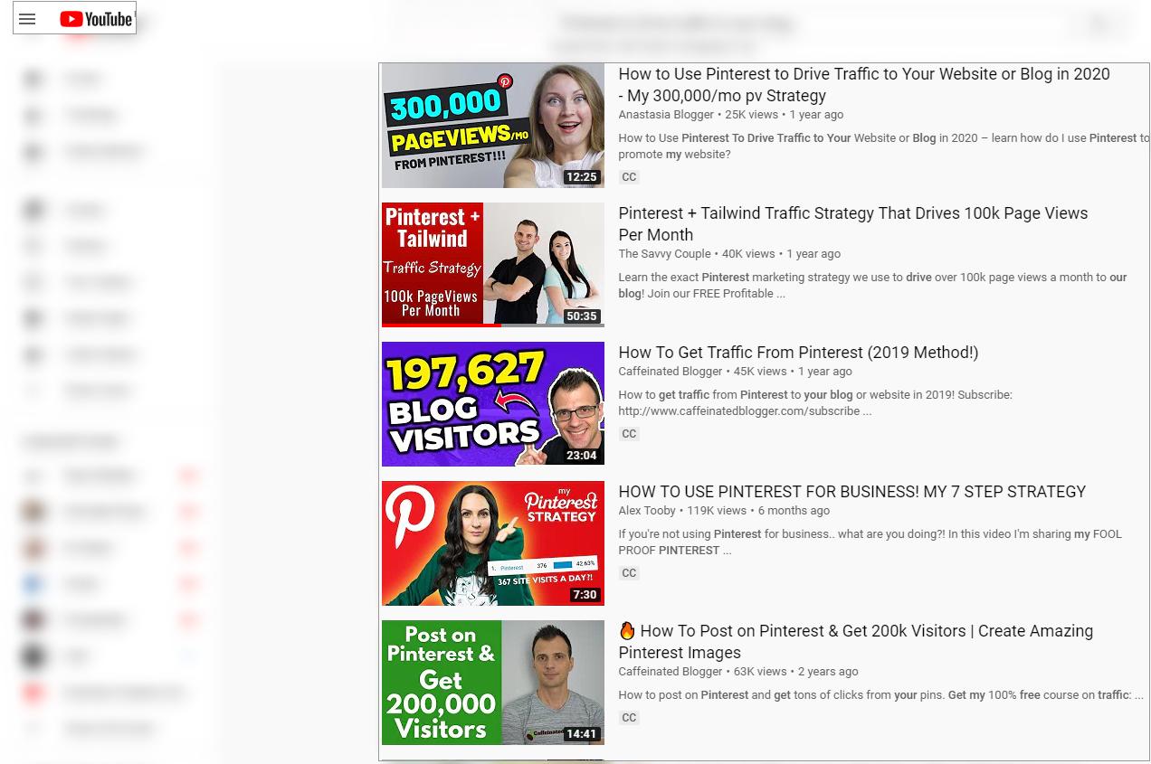 youtube videos for pinterest analytics
