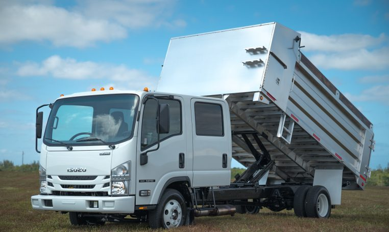 Isuzu NPR Gas Crew Cab 14-ft Aluminum Dump Truck 12