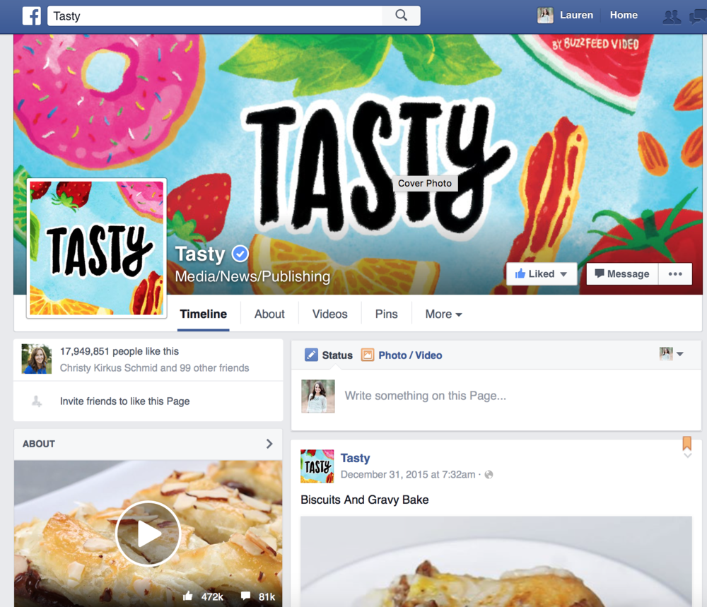Trang Facebook của Tasty (cre: Tasty)