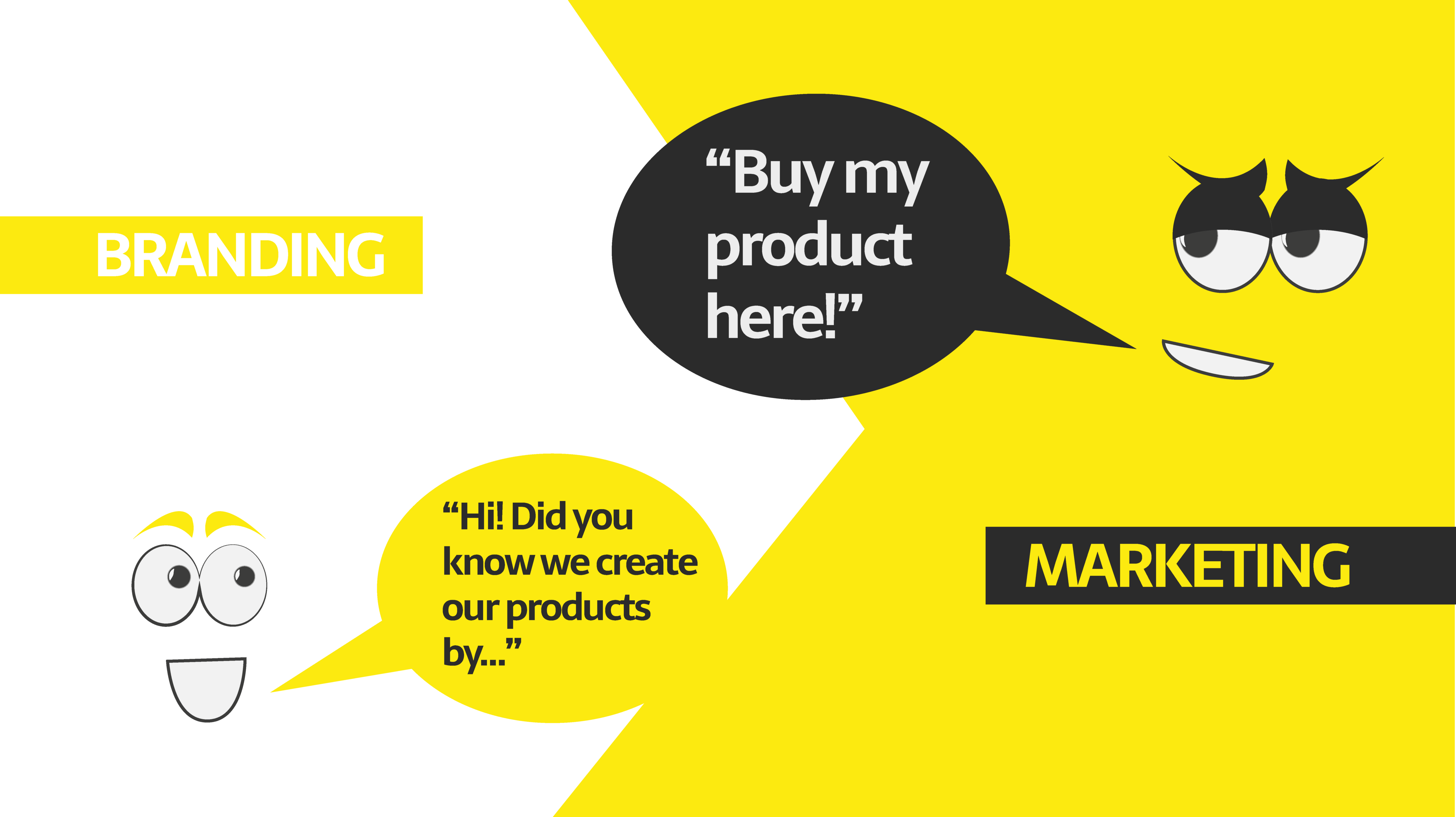 Phân biệt rõ marketing và branding (cre: Medium)
