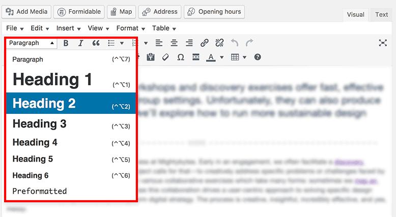 Thẻ tiêu đề trong thanh công cụ trên wordpress (cre: mightybytes)