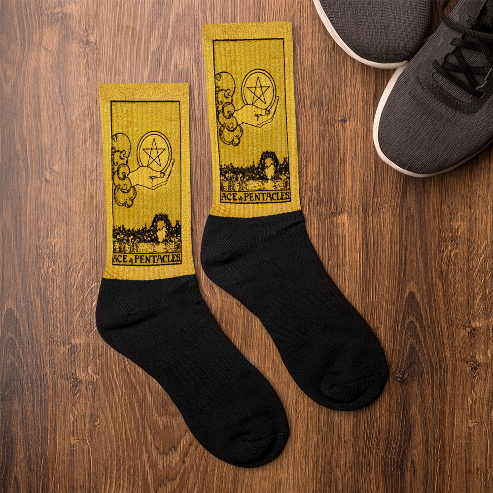 Ace of Pentacles | Apollo Tarot Ace of Pentacles Lucky Socks