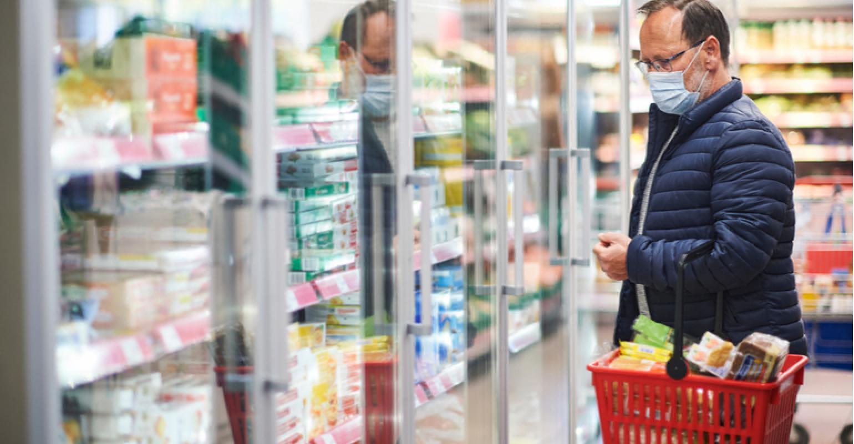 Os preços dos alimentos também subiram bastante