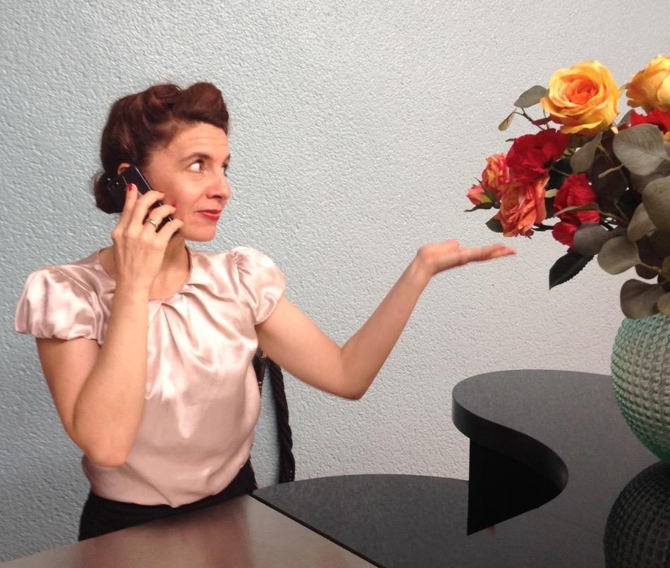 Genau so sieht Patricia beim Arbeiten aus. Oder so ähnlich.