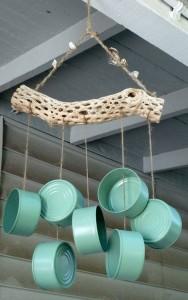 Kling Klang: Ein hübsches Windspiel aus leeren Dosen (Foto: Pinterest)