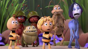 Biene Maja und Willi wollen an den Honigspielen teilnehmen