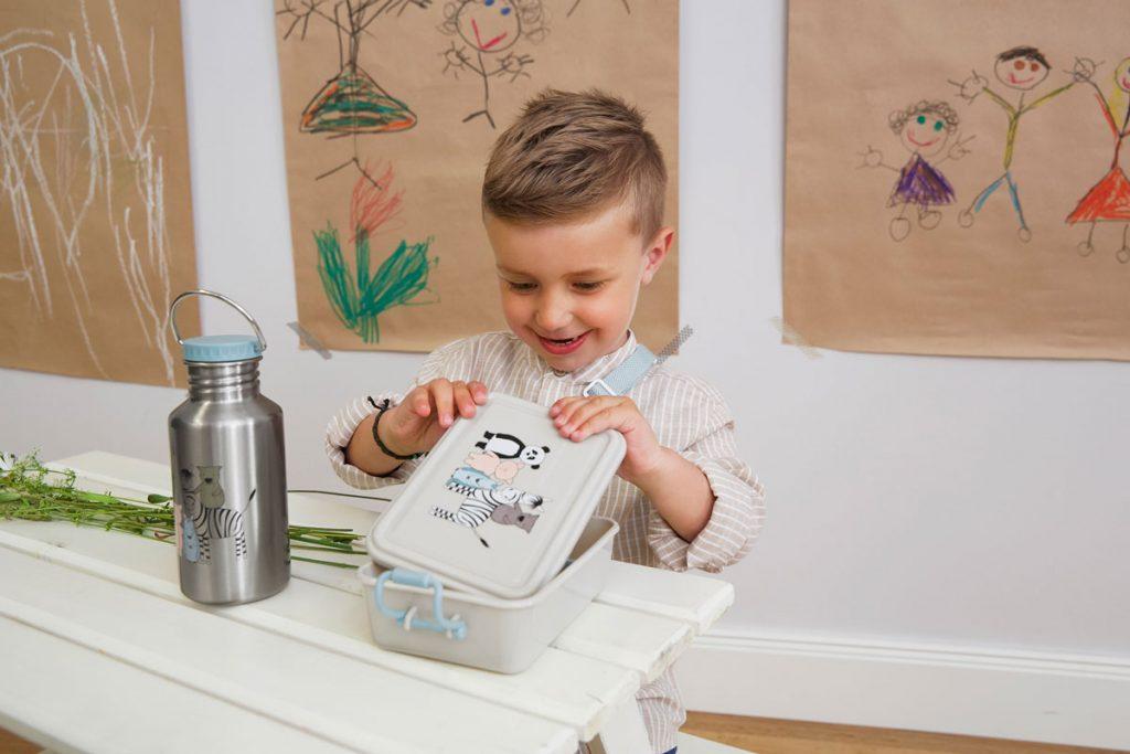 Brotdose und Trinkflasche für Kinder