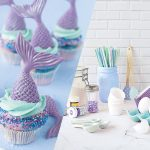 meerjungfrau mermaid cupcakes backen für kinder