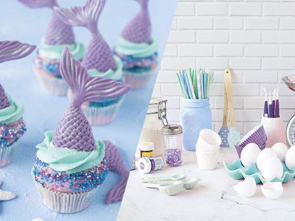 meerjungfrau mermaid cupcakes backen für kinder
