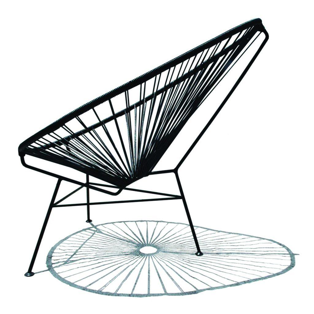 Smallable Made in Design schwarzer Lounge Sessel Outdoor Indoor Living Einrichtung Wohnen ausruhen entspannen