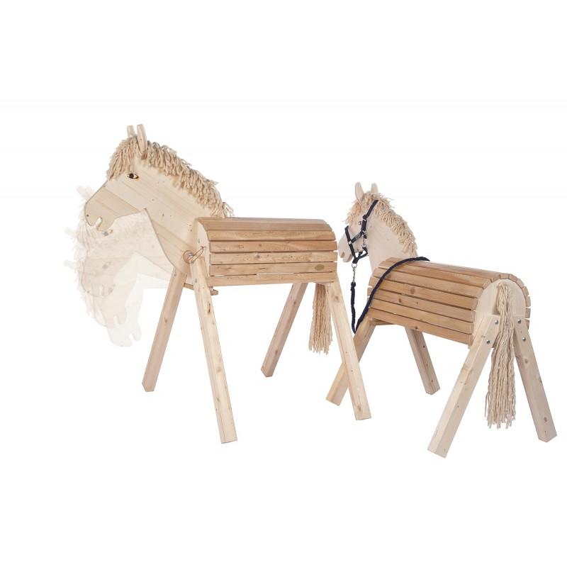 Gartenpferd aus Holz von Helga Kreft Outdoor spielen reiten Kinder Pferde