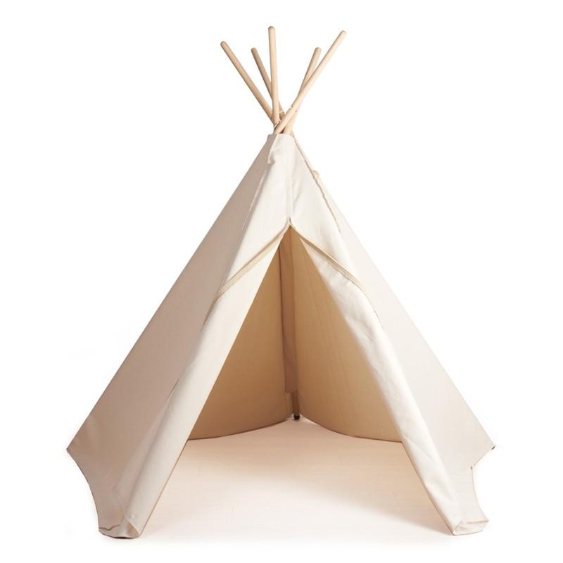 Tipi von Vilac Rimini Shop Zelt Indianer spielen toben ausruhen Kinder Living Kinderzimmer Nursery weißes Tipi