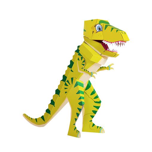 Zuckertuete von der kleine Knick Schultuete Dinoschultuete der erste Schultag Schulanfänger Einschulung Tyrannosaurus Rex faltbare Schultuete Pappe