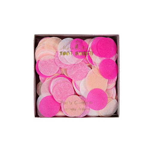 Konfetti pink Kindergeburtstag Geburtstag Party Tischdekoration