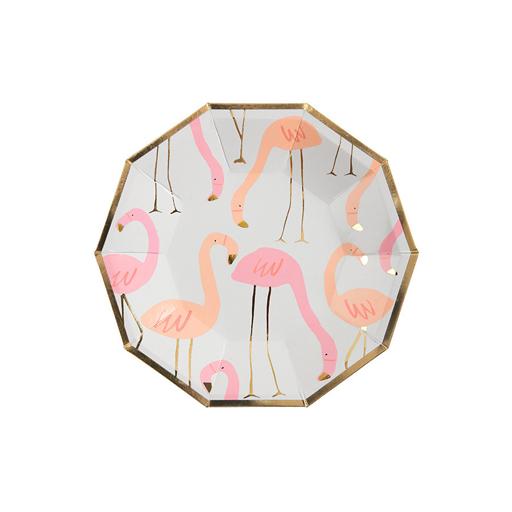 Pappteller Flamingo Dekoration Tischdeko Kindergeburtstag Tischdekoration Feier
