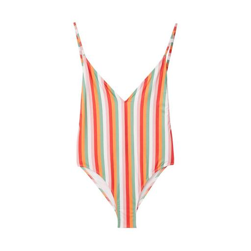 Badeanzug bunt Streifen Frauenbadeanzug Frauenmode trendbewusst schick schön schwimmen baden Sommer SS18