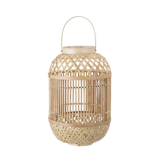 Laterne Gartenparty Terrasse Dekoration Bambus Natur sandfarben Licht