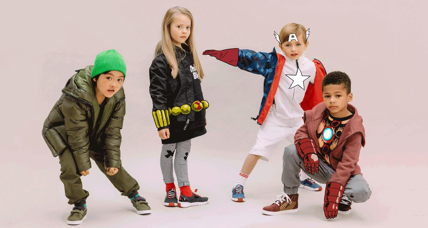 Kleine Superhelden: Schuhmarke Clarks kooperiert mit Marvel