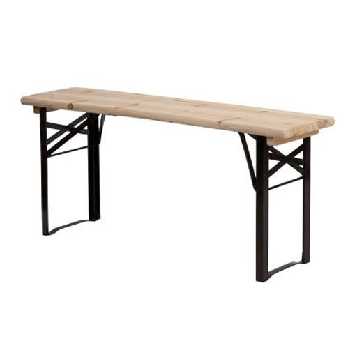 Bank aus Holz und Metall Garten Terrasse Gartenparty Wohnen Living