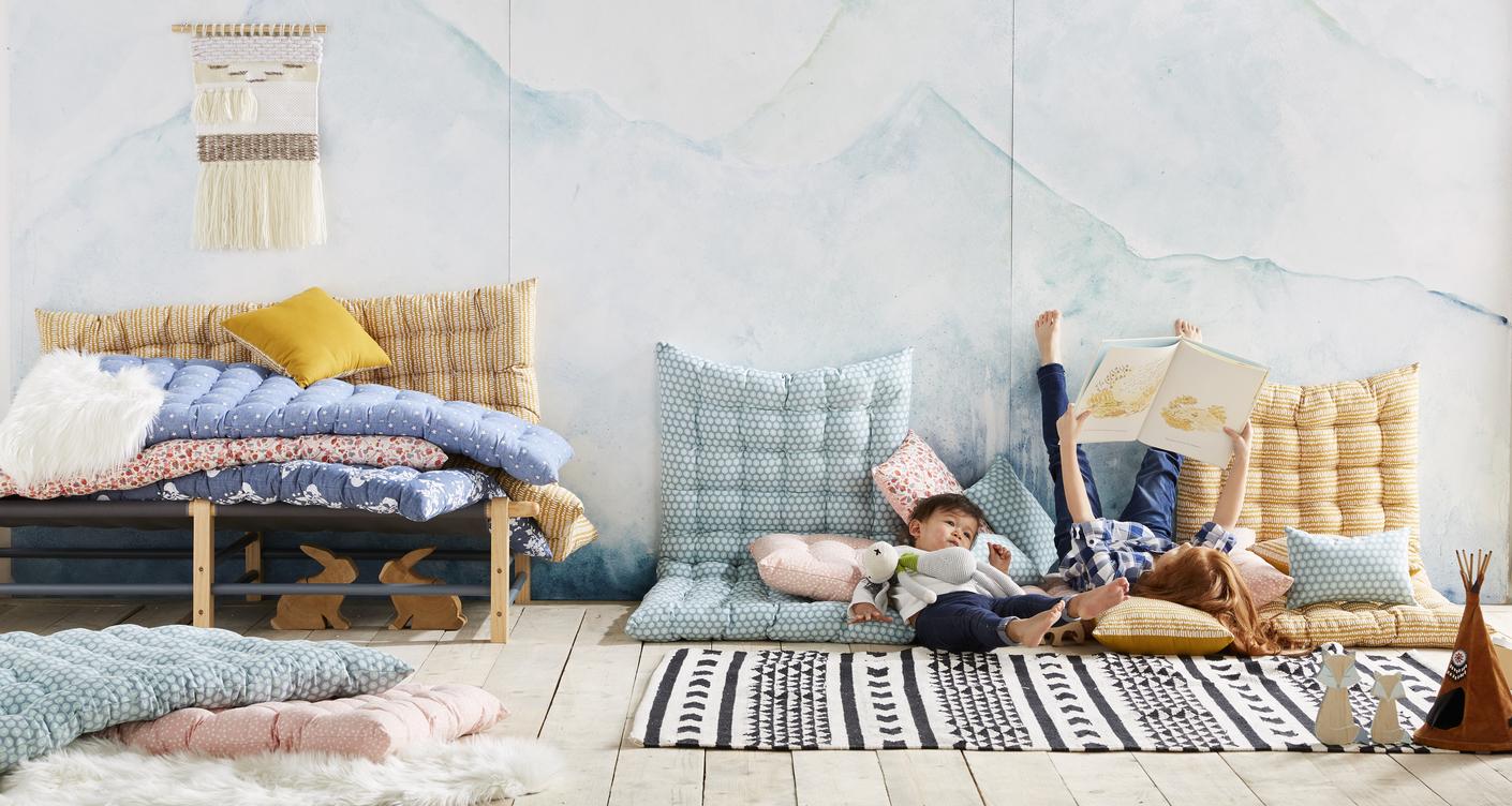 Sch ne spielmatratzen und sitzkissen f r 39 s kinderzimmer for Das kinderzimmer munchen