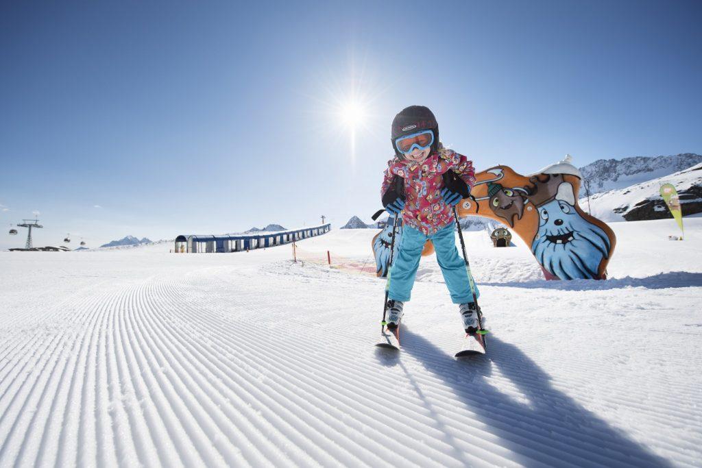 Skifahren mit Kindern, Stubaital