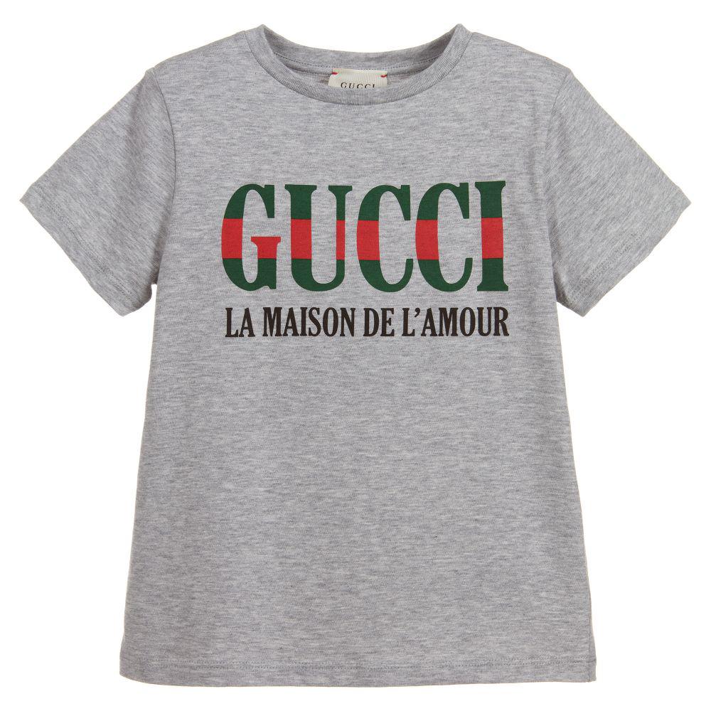 T-Shirt mit Logo von Gucci ss19