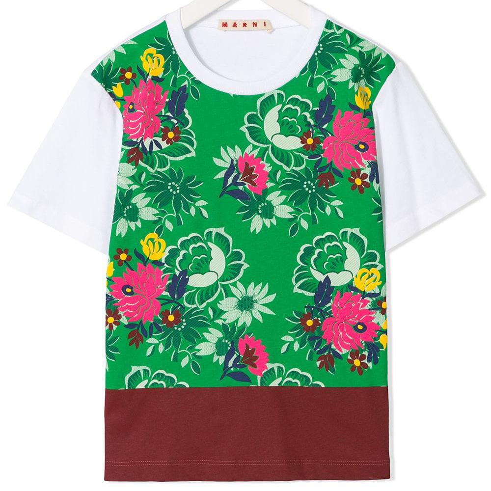 T-Shirt mit Blumen von Marni ss19