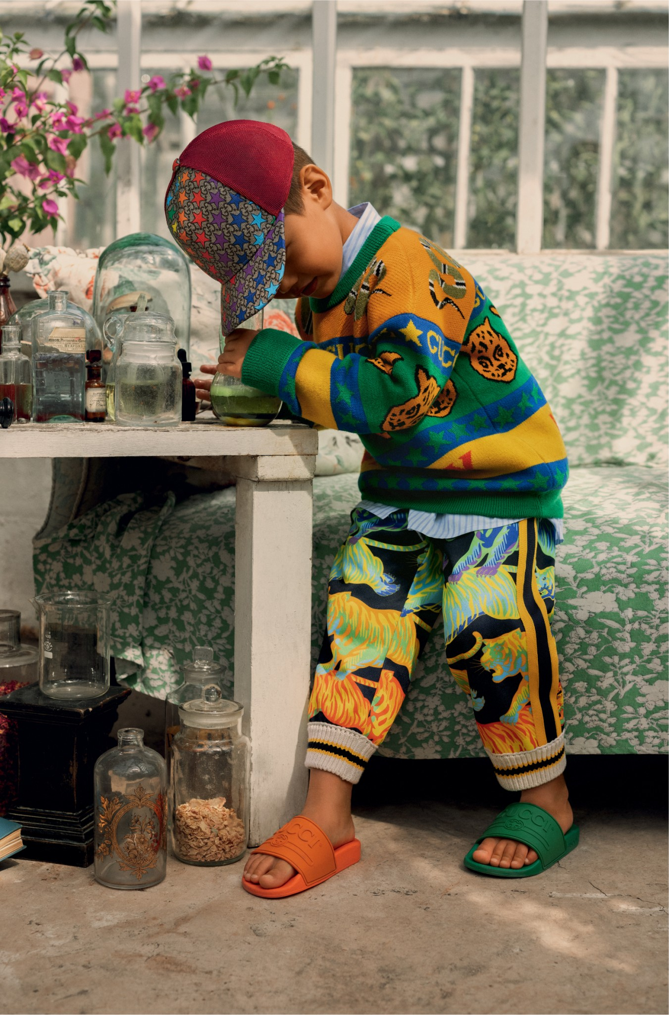 Kind in der Gucci ss19 Kampagne