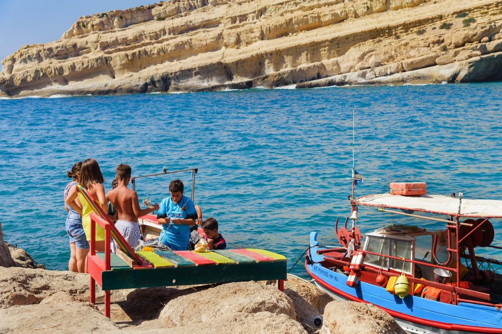 Kreta mit Kindern, Matala