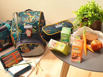 Gewinnt ein Schulrucksack-Set plus leckere Durstlöscher von Natumi