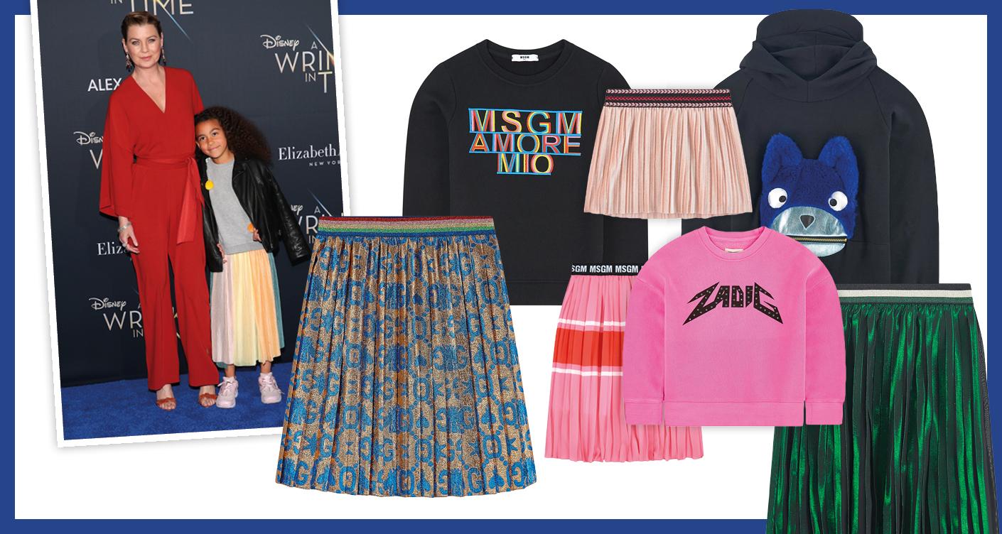 Kindermode Trend – Sweater liebt Plisseerock