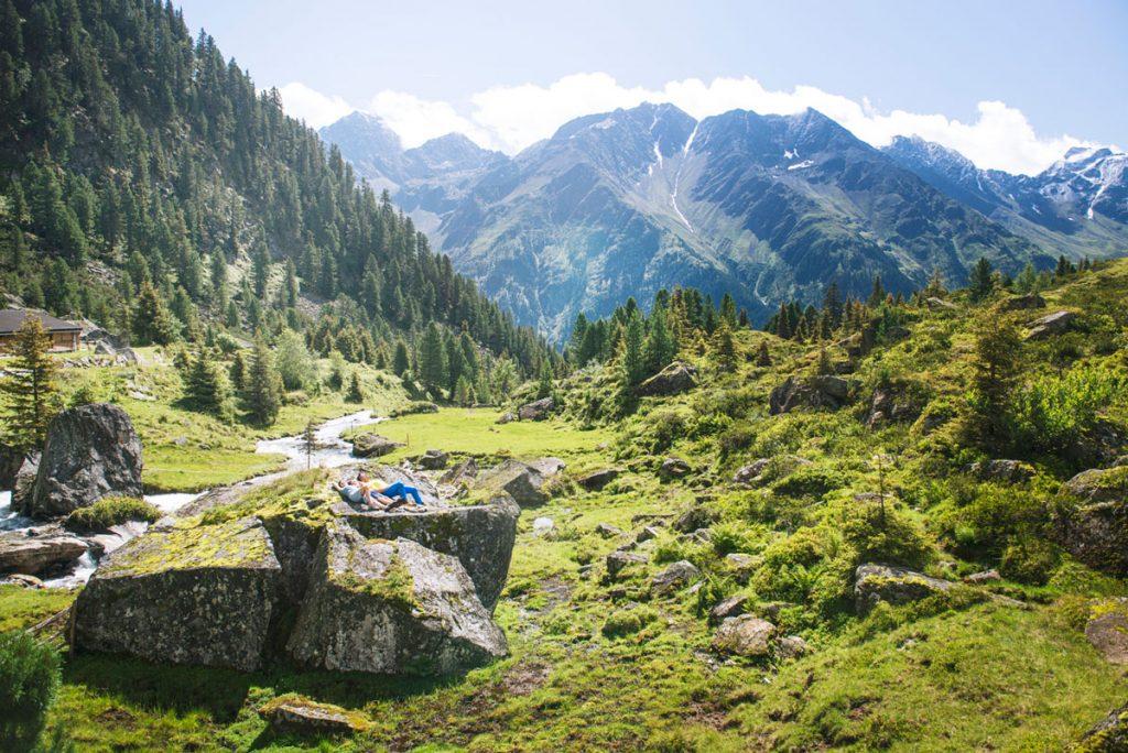 Alpines Panorama im Stubaital