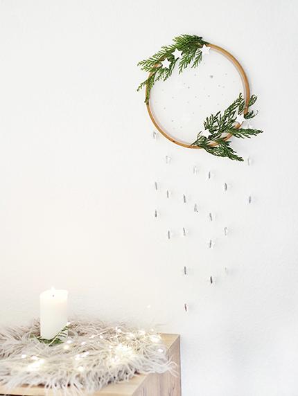 DIY: Weihnachtlicher Wandbehang mit skandinavischem Hauch