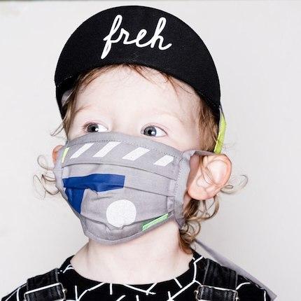 Mundschutz für Kinder und Eltern in coolen Designs