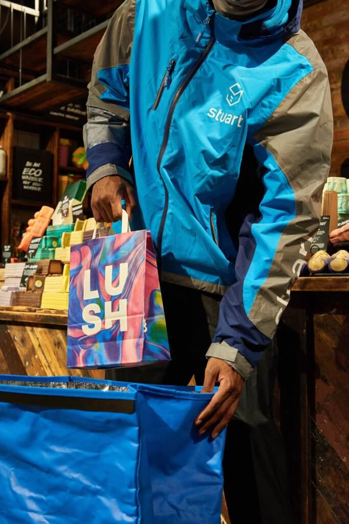 Lush products delivered to your door in as little as two hours