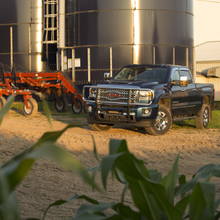 2017 GMC Sierra 3500HD on the farm with a LUVERNE grille guard